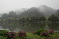 安徽西递晨雾风景
