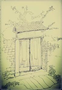 安徽写生风景速写钢笔画绘画
