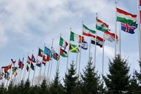 国际活动多国旗帜