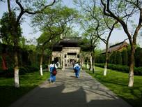 杭州西湖园林一角