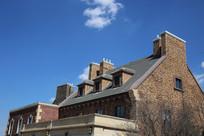 欧式风格砖墙别墅
