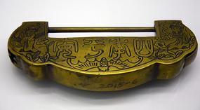 四季平安铜锁图片