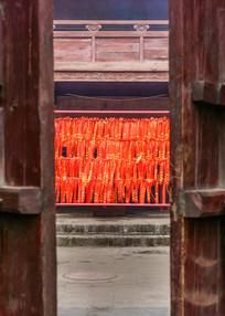 寺庙里的祈福