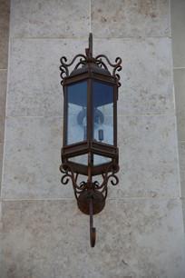 铁艺玻璃壁灯