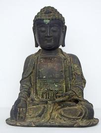 铜质佛像古文物摄影图