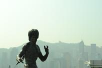 香港星光大道上的李小龙像
