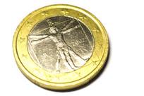 一欧元硬币背面