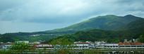绿色山脉自然风景摄影图