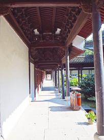 寺院走廊图片素材