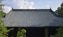 斜顶瓦房古建筑图片