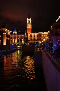 灯火辉煌的东方水城