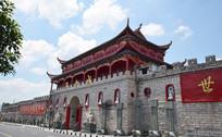 佛教城的红色楼阁