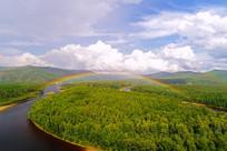林海彩虹风景