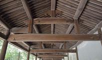 木雕走廊古建筑图片