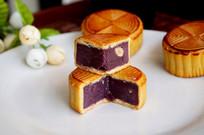 中秋紫薯月饼馅料图