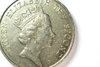 1元港币硬币特写