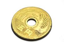 5日元硬币特写