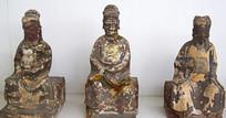 古代的木雕神像