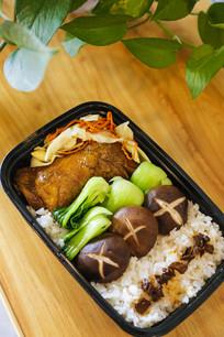 鸡腿米饭套餐美食图片