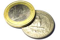 欧元与美元硬币