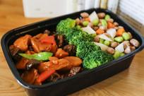 排骨炖红萝卜米饭套餐