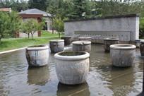 喷水池景观