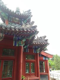 公园的古建筑