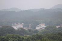 农村自建房周边风景