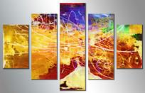 五联抽象壁画