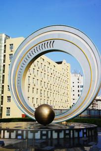 城市雕塑星轨
