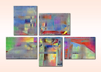 五联组合装饰画