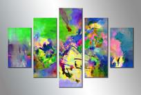 现代风格无框画组合装饰画