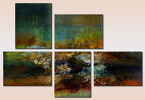 抽象艺术组合画