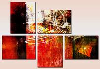 无框装饰画组合抽象画