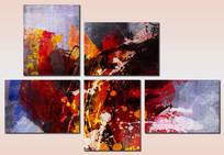 现代抽象组合无框画