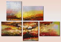 现代装饰画 组合艺术壁画