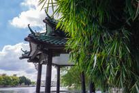 惠州南湖边的演达亭