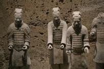 四个秦兵马俑