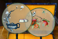 艺术蜀绣团扇