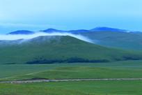清晨山地牧场