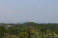 农村高山绿树山脉
