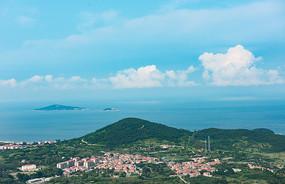 海岛海边村落