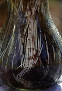 玻璃瓶中的白色根系