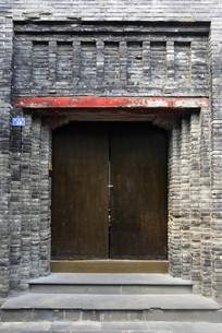 成都民国时期建筑青砖帽子门