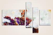 北欧风格四拼抽象画