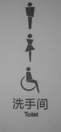 不一样的厕所标志