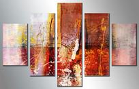 抽象五联画