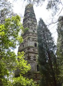 高耸的隋塔古建筑