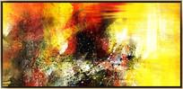 酒店抽象油画装饰画