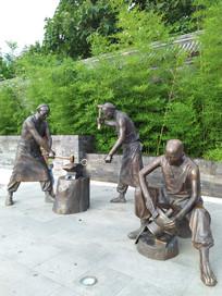 老北京的人物雕塑